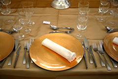 Fancy dinner set Stock Image
