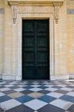 Fancy door with tile marble floor Stock Image
