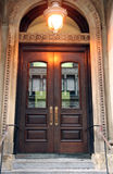 Fancy Doorway Entrance. To Upscale Apartment Building Royalty Free Stock Image