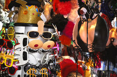 Fancy dress costumes on display at Pottinger Street market, Hong Kong Royalty Free Stock Photo