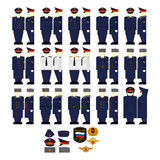 Fancy Dress Uniform of the Ministry of Justice. Uniforms and insignia of the Ministry of Justice. The illustration on a white background Stock Images