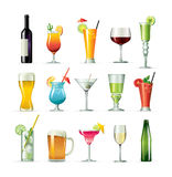 Fancy drink cocktails Stock Image