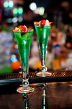 Fancy Drinks. Two fancy drinks served in a nightclub royalty free stock image