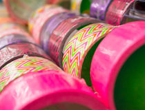 Fancy Duct Tape. Duct tape of different colours and patterns Royalty Free Stock Photo