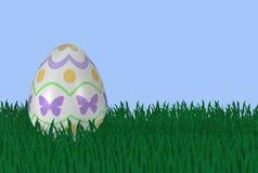 Fancy Easter Egg in Grass Stock Photo