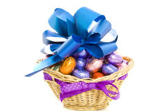 Fancy egg basket Royalty Free Stock Photo
