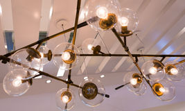 Fancy electrical ceiling lamp Royalty Free Stock Photos