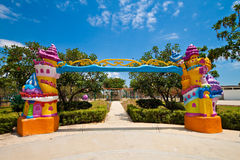 Fancy entrance to a children theme park Royalty Free Stock Photography