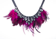 Fancy Feather necklace royalty free stock photo