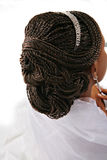 Fancy Female Hair Braid Closeup Stock Images