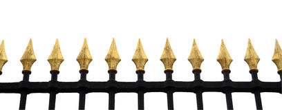 Fancy Fence Isolation Royalty Free Stock Image
