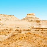 Fancy Figures. In Sandy Hills of the Negev Desert in Israel Stock Photography