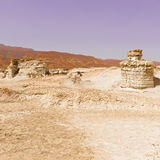 Fancy Figures. In Sandy Hills of the Negev Desert in Israel Royalty Free Stock Photography