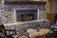 Fancy fireplace Stock Image