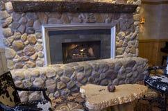Fancy fireplace stock image