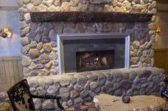 Fancy fireplace royalty free stock photos