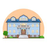Fancy flat cottage house Stock Photography
