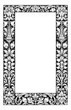 Fancy floral filagree frame vector illustration. A fancy floral filagree frame in black and white. See additional format for vector file Royalty Free Stock Image