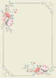 Fancy Floral Frame Background Royalty Free Stock Photos