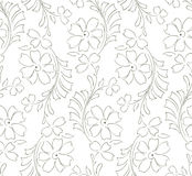Fancy floral seamless background Royalty Free Stock Photo