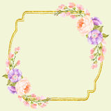 Fancy Floral Square Frame Stock Photography
