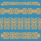 Fancy floral swirling decorative pattern Stock Photo