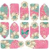 Fancy Flourish Gift Tag Tabs Stock Photography