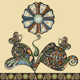 Fancy flower pattern, abstract design ornament royalty free illustration