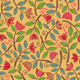 Fancy Flower Pattern_Yellow Royalty Free Stock Photography