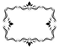 Fancy Frame Border. Fancy page frame border design on a white isolated background vector illustration