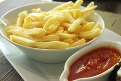 Fancy french fries Stock Images