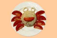 Fancy fried rice in crab shape Stock Images
