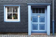 Fancy front entryway and beautiful window Royalty Free Stock Photos