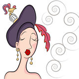 Fancy Garden Party Hat Woman Stock Images