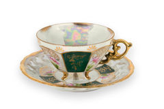 Fancy Gilded Teacup Stock Image