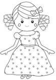 Fancy Girl. A girl wearing a starry, fancy dress vector illustration