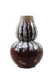 Fancy glaze gourd vase Royalty Free Stock Images