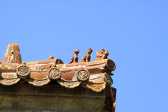 Fancy glazed tile roof in the Eastern Royal Tombs of the Qing Dy Stock Image