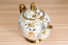 Fancy Gold Decorated Teapot Stock Photos