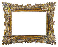 Fancy Gold picture frame Stock Photo