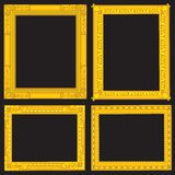 Fancy Gold Picture Frames Royalty Free Stock Photo