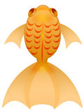 Fancy Goldfish Illustration Top Isolated on White Royalty Free Stock Photos