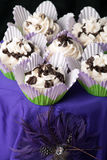 Fancy Gourmet Cupcakes Royalty Free Stock Photography