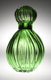 Fancy Green Perfume Bottle Stock Image