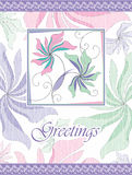 Fancy greeting card design Royalty Free Stock Photo