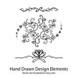 Fancy hand drawn dividers and design elements vector Royalty Free Stock Image