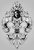 Fancy Hand Drawn Fleur De Lis Royalty Free Stock Photos