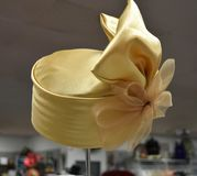 Fancy hat for derby day. Fancy, colorful hat for a formal occasion such as church, Kentucky Derby, a wedding or meeting the queen stock images