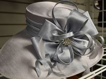 Fancy hat for derby day. Dressy ladies hat for a formal occasion Stock Photography