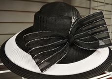 Fancy hat for derby day. Dressy ladies hat for a formal occasion Royalty Free Stock Photo